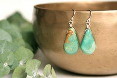 Turquoise Earrings. Southwestern Jewelry. Sterling Silver.