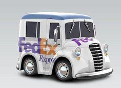 fedex images   Car Town Customs: Milk Truck - FedEx