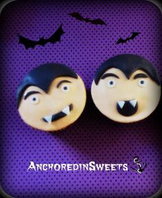 Halloween Vampires Fondant Toppers -- AnchoredinSweets