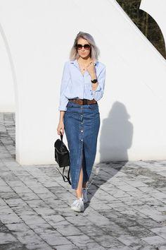 e0fe921c1f 10 Looks que puedes lograr usando tu falda de mezclilla