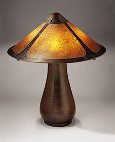 Lamp, ca. 1912–15  Dirk Van Erp (American, born Netherlands, 1859–1933)  San Francisco, California  Copper, mica