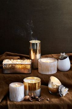 Channeled Selenite Candle - anthropologie.com