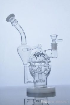 thick glass bongs Fab Egg Glass Pipe Skull Smoking Pipe Double recycler Showerhead perc with 14.4 mm joint