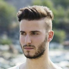 So gear up with some crazy ideas this time as mens undercut hairstyles with beard is going to be one of the trends setting ideas around you. Undercut Styles, Undercut Men, Undercut Pompadour, Undercut Hairstyles, Boy Hairstyles, Trendy Hairstyles, Mens Hairstyles Widows Peak, Short Undercut, Short Beard
