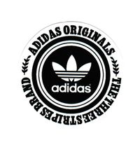 #1867 adidas Originals the three stripes brand Logo , 8 cm decal sticker