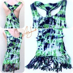 Tie Dye Tshirt Beach Tie Dye Tank Top Bohemian Beaded Fringe Dyed... ($40) ❤ liked on Polyvore featuring tops, black, tunics, women's clothing, sexy shirts, sleeveless shirts, woven shirts, tie dye shirts and tie-dye shirts