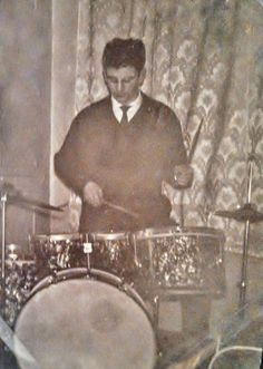 """musicrunsthroughmysoul: """" Ringo Starr on drums in 1958 (x) """""""