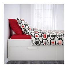 БРИМНЭС Каркас кровати с ящиками - 140x200 см, Лурой - IKEA