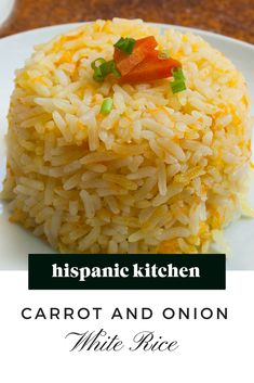 Carrot and Onion White Rice Rice Recipes, Mexican Food Recipes, New Recipes, Healthy Recipes, Rice Side Dishes, Hispanic Kitchen, Latin Food, Food Categories, Some Recipe