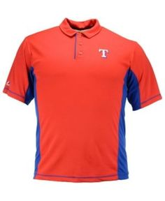 Majestic Men's Texas Rangers Top of the Inning Polo - Red S