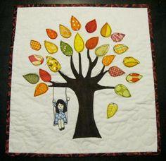 Fall tree mini quilt