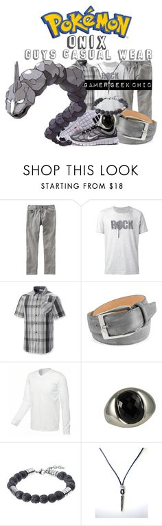 """""""Pokémon - Onix"""" by gamer-geek-chic ❤ liked on Polyvore featuring Old Navy, John Varvatos, Columbia, pakerson, Zales and NIKE"""
