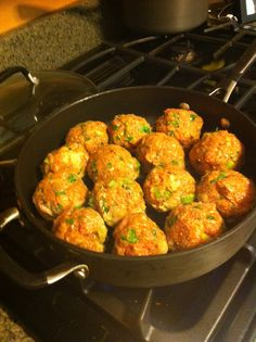 Asian Turkey meatballs. A-may-zing! I made these tonight!   Servings 4 ; Size: 3 meatballs ; Weight Watchers: 7 pts+  1/4 C panko crumbs 1 1/4 lbs 93% lean ground turkey 1 egg 1 T ginger, minced 1 clove garlic, minced 1/2 tsp salt 1/4 C chopped fresh cilantro 3 scallions, chopped 1 T low sodium soy sauce 2 tsp sesame oil  Mix ingredients and brown in the skillet or bake in the oven. I browned in the skillet and threw them in the crockpot with stirfry veggies and water chestnuts. Serve over…