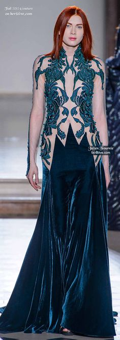 of the most creative and alluring couture fashions for Fall from designers that participate in Paris and Rome Fashion Week. High Fashion Dresses, 15 Dresses, Julien Fournié, Rome Fashion, Velvet Fashion, Haute Couture Fashion, Couture Collection, Beautiful Gowns, Evening Gowns