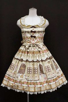 画像1: Angelic Pretty / Sweet Cream house襟付きジャンパースカート