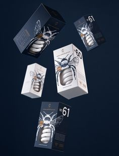 Fireflies Inspired This Clever Packaging for CS Light Bulbs - Design - Angelina Pischikova designed this clever packaging for CS Lightbulbs. Each package features beautif - Clever Packaging, Innovative Packaging, Packaging Ideas, Packaging Design Inspiration, Graphic Design Inspiration, Typography Inspiration, Label Design, Branding Design, Package Design