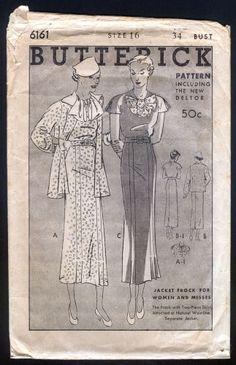 Butterick 6161 | 1935 Dress pattern
