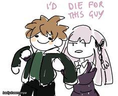 Danganronpa Chihiro, Danganronpa Funny, Danganronpa Characters, I Miss My Boyfriend, Manga, Makoto Naegi, Danganronpa Trigger Happy Havoc, Weird Gif, Bad Memes
