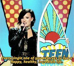 Demi Lovato's speech