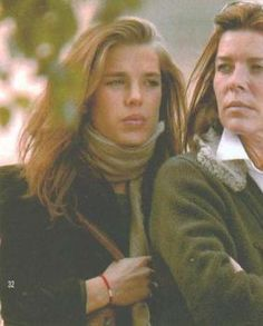 /****Princess Caroline and Charlotte Casiraghi.