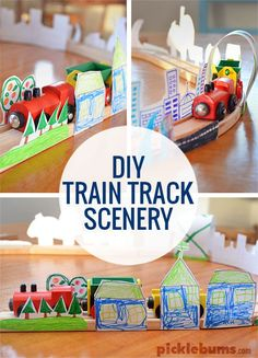 Make your own train track scenery!