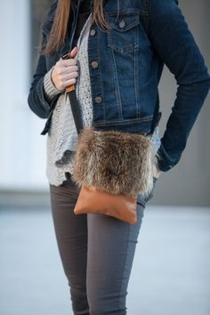 Small shoulder bag fur and genuine leather Fur Purse, Fur Bag, Leather Bags Handmade, Leather Craft, Fur Fashion, Fashion Bags, Leather Purses, Leather Handbags, Red And Black Flannel