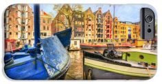 iPhone Cases - Canal Houses iPhone Case by Nadia Sanowar
