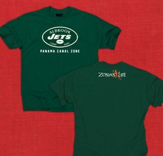 """Albrook Jets Green Tee // COMING SOON!!  If you have interest in this shirt visit us on Facebook and let us know that you want the """"Panama Presale"""" https://www.facebook.com/ZonianLife"""