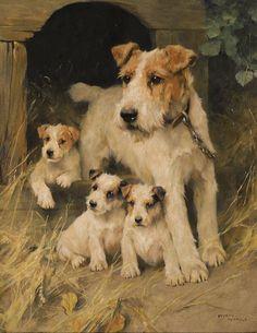 Uma questão de família Arthur Wardle (GB, 1864-1949) óleos sobre tela, 51  x 61 cm