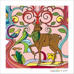 Original color choices by @abrumugerli ! Relax and Colorfy! http://colorfy.net/app #colorfy #colorfyapp #getinspired #lions #cats #feline #animals #kittie #cute #beautiful #colorful #coloring #therapy #joy #nature #Flower #Colorfy #Nature #drawing #picture #painting #coloring #books #book #app #deer