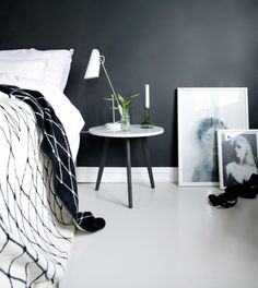 T.D.C | Black painted wall and table legs by Designlykke