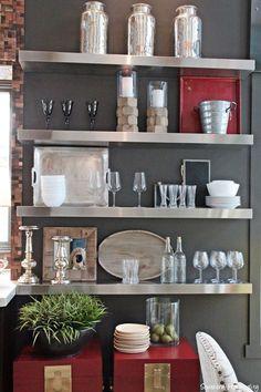 shelves close