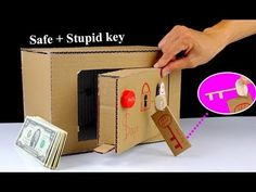 How to make a Safe Locker From Cardboard with ' Stupid ' Key - Mr H2 Diy Toys - YouTube