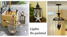 This is a small/easy DIY that most people completely forget about. You can save tons by spray painting your own lighting or going to a ReStore and purchasing an inexpensive light and painting it! Habitat Restore, Spray Painting, Simple House, Easy Diy Projects, Getting Organized, Habitats, Light Fixtures, Reuse, Upcycle