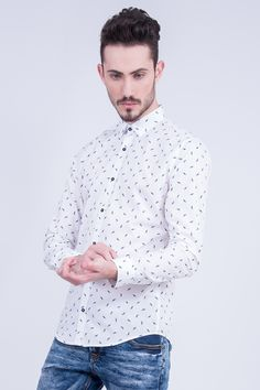 Slim Fit Shirt In Cars Print