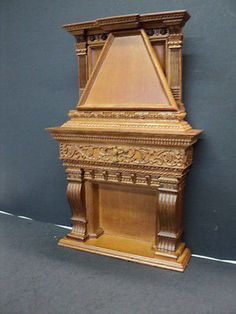 DOLLHOUSE BESPAQ AMERICAN GRAND FIREPLACE/ Walnut $200.00 when Bespaq lives up to its name