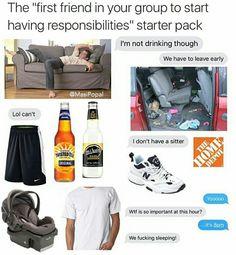 Minus the sneakers and minivan. Dankest Memes, Funny Memes, Hilarious, Funny Starter Packs, Clap Back, Good Comebacks, Taurus Woman, Leave Early, Meme Template