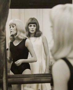 Les soeurs Dorléac, sur le tournage des Demoiselles de Rochefort (Jacques Demy)