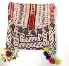 Vintage Patchwork Tribal Clutch with coins