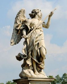 Fighting angel on the angel bridge, Gian Lorenzo Bernini, Rome  Bernini was a genius who combined architecture and sculpture like it was an easy thing to do.