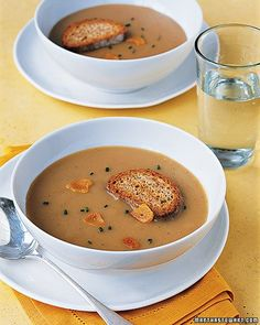 Martha Stewart Roasted Garlic Soup recipe. Keeps the sniffles away!