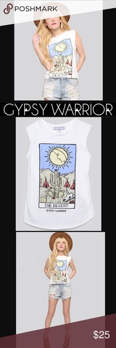Gypsy Warrior DESERT TAROT CARD TANK WORN ONCE SIZE SMALL SMOKE FREE HOME SAME OR NEXT DAY SHIPPING 20% OFF WHEN YOU BUNDLE 2+ ITEMS Gypsy Warrior Tops Muscle Tees