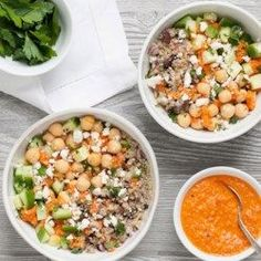 Mediterranean Chickpea Quinoa Bowl - EatingWell.com