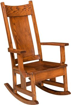 33% Off Springfield Rocker in Oak | Solid Wood Amish Furniture