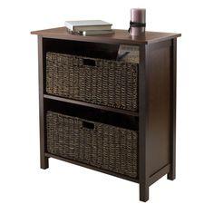 Granville 3-Pc Storage Shelf with 2 Foldable Baskets