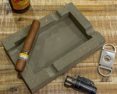 Concrete Cigar Ashtray by StoneAndStationery on Etsy