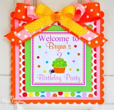Halloween Birthday Door Hanger Fall Birthday by thepaperkingdom, $15.00