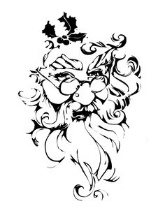 Printable Santa Face | Online Coloring Book - OldeFashionedChristmas.com