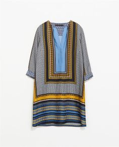 What a great  PRINTED KAFTAN from Zara...perfect for summer!