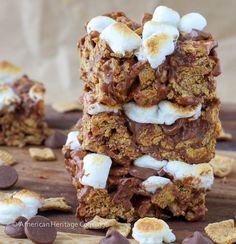 Toasted Marshmallow Golden Graham Smores Bars